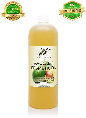 Avocado Cosmetic Oil 32 oz REFINED NATURAL Cold Pressed 100% PURE VELONA Health & Beauty