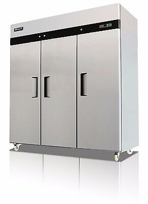 Migali C-3f Commercial Three Door Freezer Reach In 72cu.ft. Free Shipping