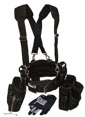 Gatorback Ultimate Electricians Package  Belt Suspenders Gloves Drill Holster