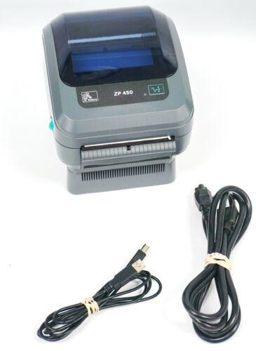 ZEBRA ZP-450 THERMAL LABEL PRINTER ZP450 Power Cord and USB Cord