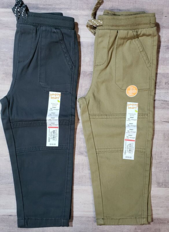 Sweatpants 18 mo Pull on Reinforced Knee Toddler Boy Jumping Beans NWT