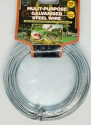 100 Ft Galvanized Steel Wire Rust Resistant Versatile