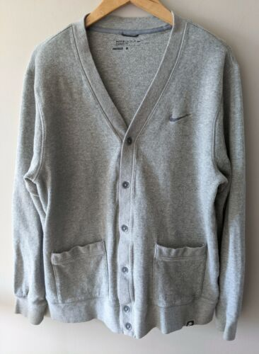 Nike Golf Dri-Fit Gray Cardigan Sweater Size Large L