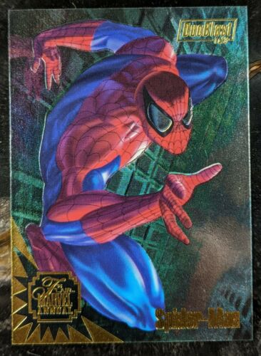 1995 Flair Marvel Annual - DuoBlast Chase Card 1/3 - Spider-Man Scarlet Spider