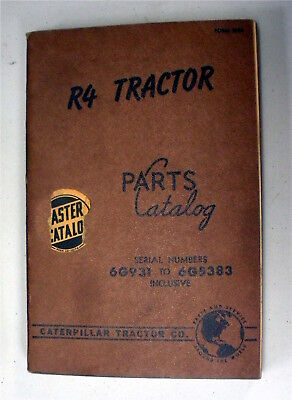 R4 Tractor Sn 6g931-6g5383 Caterpillar Parts Catalog