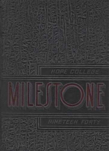 "1940 ""Milestone"" - Hope College Yearbook - Holland, Michigan +"