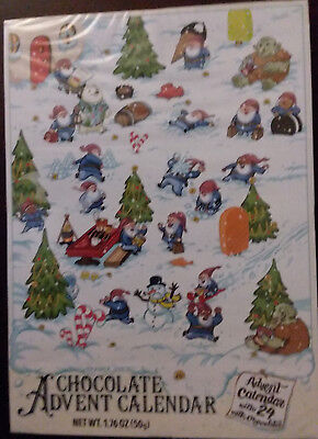 6/20 COUNT DOWN Trader Joe's Chocolate Advent Calendar 24 day'18 GNOMES