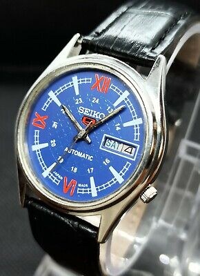 Vintage Seiko 5 Automatic Movement no 7009A Japan Made Men's Watch.