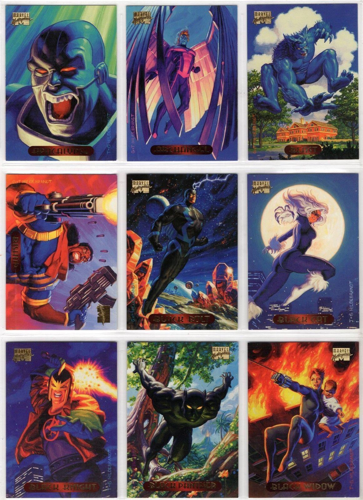1994 MARVEL MASTERPIECE SERIES 3 COMPLETE 140 CARD SET NM UNIVERSE X-MEN