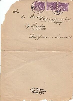 C 618 Germany Stadt Berlin cover March 1946 x 3 stamps.