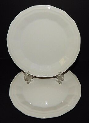 2 Homer Laughlin Classic White Colonial Dinner Bread Plates in Dover CW100
