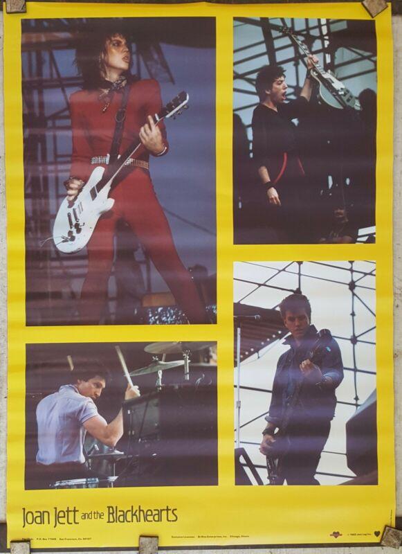Joan Jett poster bi-rite 1983 ORIGINAL approx 20 x 28 unused