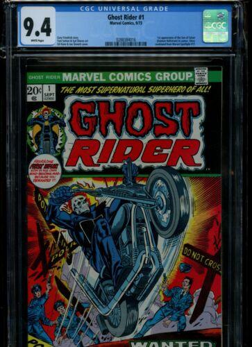 Ghost Rider #1, CGC 9.4 WP, Near Mint!! 1st Daimon Hellstrom! Centered! L@@K!