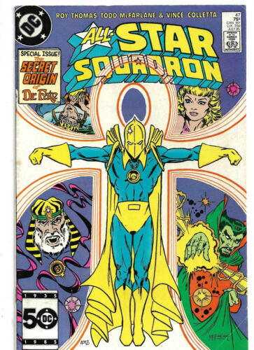 1985 DC-All Star Squadron-#47 Special Issue-Origin of Dr Fate-Early McFarlane-Fn