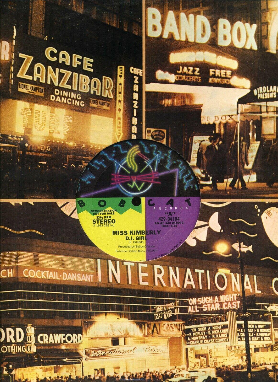 MISS KIMBERLY DJ Girl BOBCAT US 12-inch PROMO NM Bobby Orlando HiNRG - $4.99