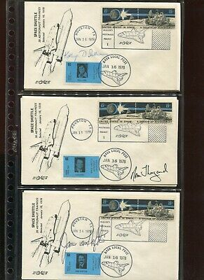 28 ASTRONAUT  SIGNED JAN 16 1978 SPACE SHUTTLE TRAINING COVER & MORE