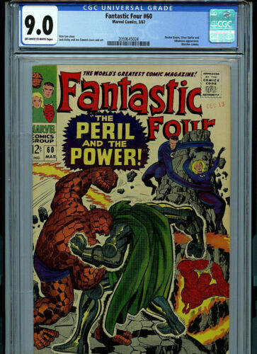 Fantastic Four #60 CGC 9.0 1967 Silver Age Marvel Comic K27