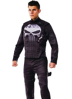 Punisher Costume Deluxe Adult Mens Muscle Marvel - Std & Plus Size - Punisher Costume