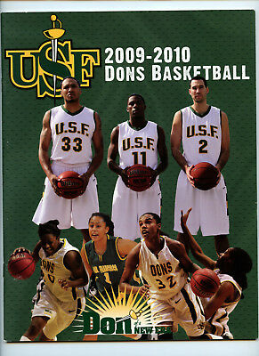 2009-10 NCAA USF Dons Basketball Official Program Magazine College Mens (2009 Ncaa Womens Basketball)