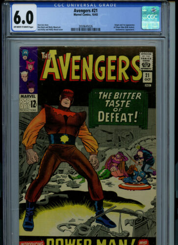 Avengers #21 CGC 6.0 FN1966 1st Power Man  Marvel Comic Amricons K27