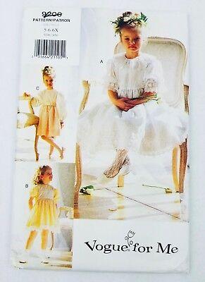 Vogue for Me 9206 Girls Dress Pattern UnCut Wedding Communion Party Size 5 6 6X (Patterns For Communion Dresses)