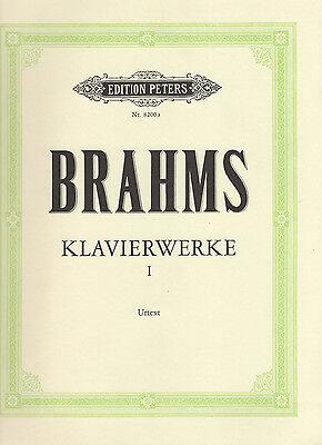 ♫ Brahms ♫ Klavierwerke ♫ Band 1 ♫ EDITION PETERS ♫ Nr. 8200a ♫