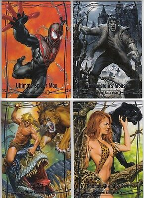 2016 Marvel Masterpieces - BASE set #1-81 (excl. tier 4 #82-90) LOW SERIAL #