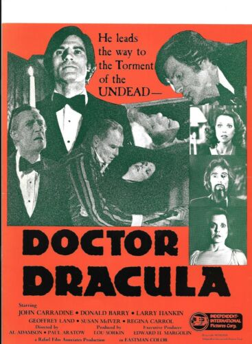 DOCTOR DRACULA(1980)JOHN CARRADINE LOT OF 5 PRESSBOOKS UNUSED