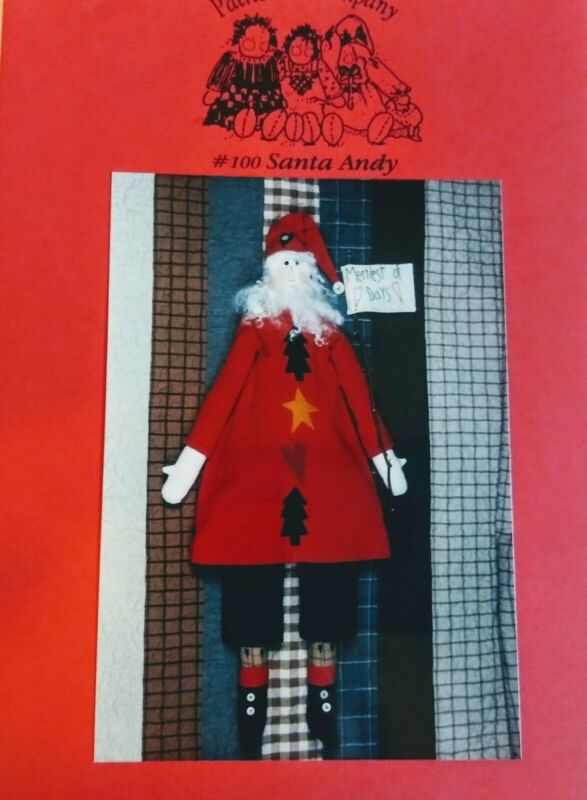 1996 Patrice & CO. SANTA ANDY Doll Pattern # 100 Uncut