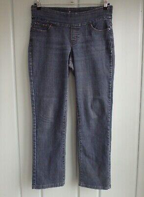 Jag High Rise Straight Leg Womens 10 Pull On Elastic Waist Jeans Stretch Blue