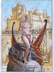 DAEYNERYS-Game-of-Thrones-J-Pimentel-matte-painter-art-print-signed-on-back