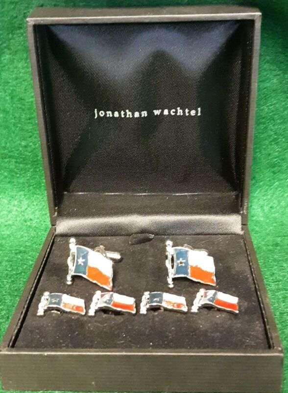Jonathan Wachtel Texas Flag Tuxedo Cufflinks and Studs