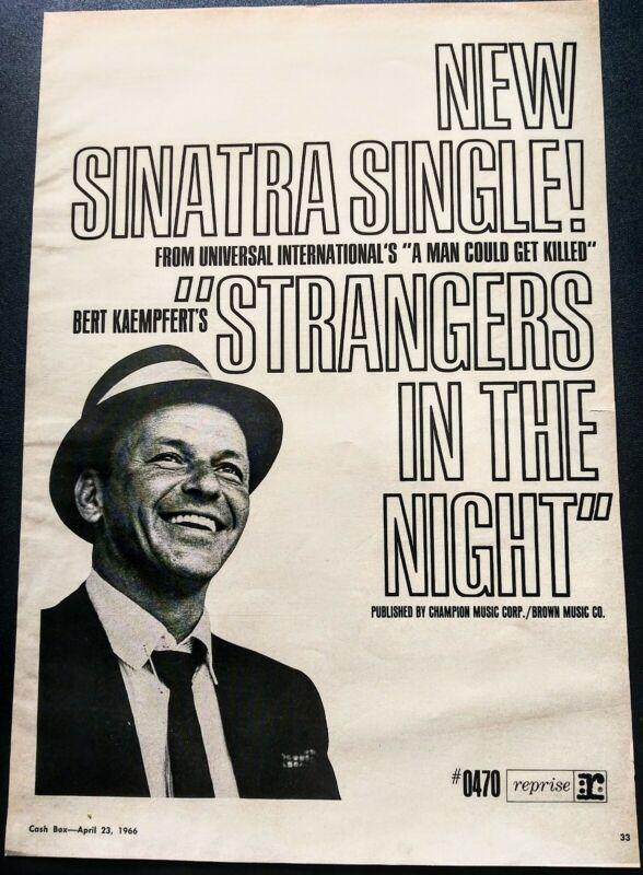 FRANK SINATRA STRANGERS IN THE NIGHT VINTAGE 1966 PROMO AD