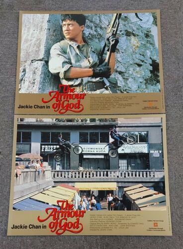 Jackie Chan Armour of God Alan Tam RARE HK 1986 Original Set of 8 Lobby Cards