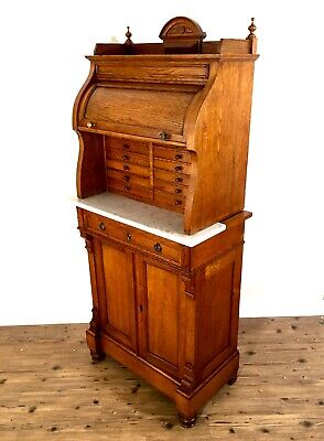 Antique Victorian Oak Wooden Apothecary / Dentist Cabinet / Chest / Furniture