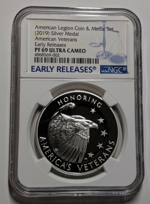 2019 American Legion 99.9% Silver Medal NGC Early Releases PR69 Ultra Cameo