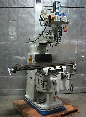 Acra Am-3v Vertical Mill Milling Machine 10 X 54 Bridgeport Type 3hp Dro Drawbar