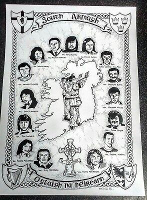 IRISH REPUBLICAN POSTER MEMORABILIA SOUTH ARMAGH TRIBUTE LONG KESH SINN FEIN