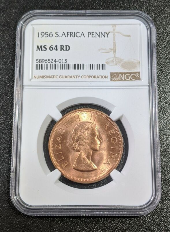 1956 MS64 RD South Africa Penny NGC KM 46 UNC Tough Grade!