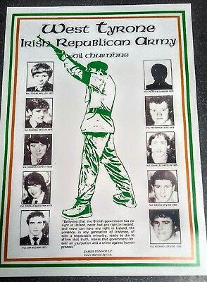 IRISH REPUBLICAN POSTER MEMORABILIA WEST TYRONE LONG KESH SINN FEIN IRELAND EIRE