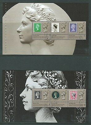GREAT BRITAIN 2017 THE MACHIN DEFINITVE PANES 1 and 2 EX.PRESTIGE BOOK FINE USED