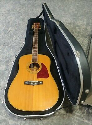 Ibanez Artwood Acoustic Guitar w/ Pickup and Hard Case USED