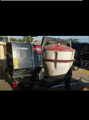 Cm-958h Toro Cement Mixer Towable 9 Cubic Ft Capacity