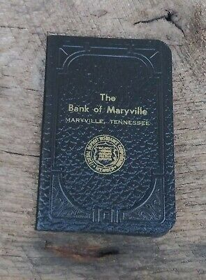 Vintage 1960s The Bank of Maryville Tennessee Ledger Account Deposit Book  #701