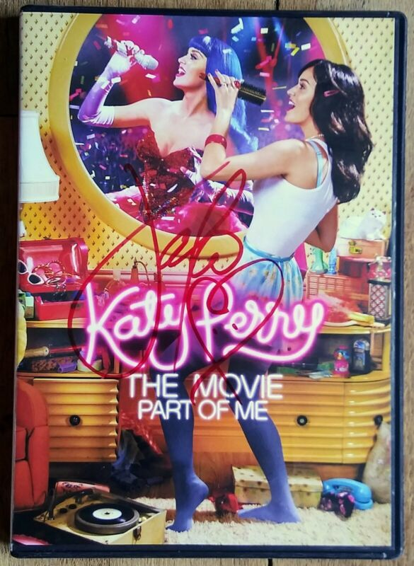KATY PERRY AUTOGRAPHED HAND SIGNED PART OF ME THE MOVIE DVD