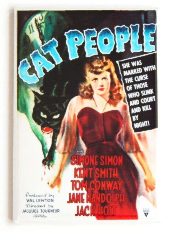 Cat People FRIDGE MAGNET movie poster horror black cat