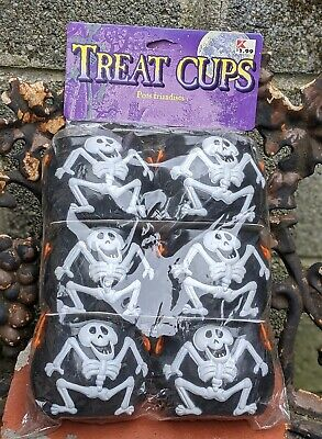 Vintage Paper Magic Group Halloween Skeletons Cauldrons Blow Mold Candy Buckets