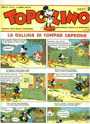 WALT DISNEY TOPOLINO 1935 MONDADORI 1981 PRIMA EDIZ LA GALLINA DI COMPAR CAPRONE
