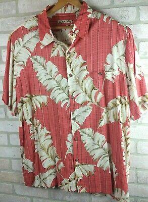 Rayon Hawaiian Shirt Wild Hawaian Batik Bay Bright Men's Size XL Button Front  - Hawaian Shirt