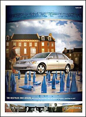2003 Toyota Avalon car washing Agua water bottles vintage photo print ad ads19